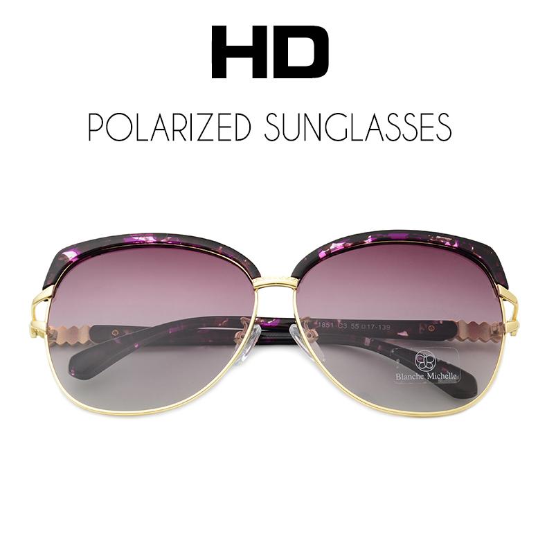HTB1nQrkiUF7MKJjSZFLq6AMBVXa1 - Blanche Michelle 2018 High Quality Square Polarized Sunglasses Women Brand Designer UV400 Sun Glasses Gradient Sunglass With Box