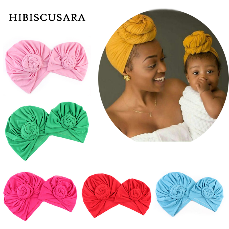 2 PCS Set Family Matching Hat Mom Baby Sport Yoga Turban Hats Bebe Mommy Autumn Winter Gorros Para Beanies Photo Props