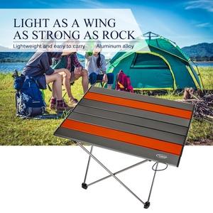 Image 1 - Portable Folding Table Ultralight Aluminium Alloy Outdoor Camping Picnic Table Desk Multi Tool Outdoor Tools