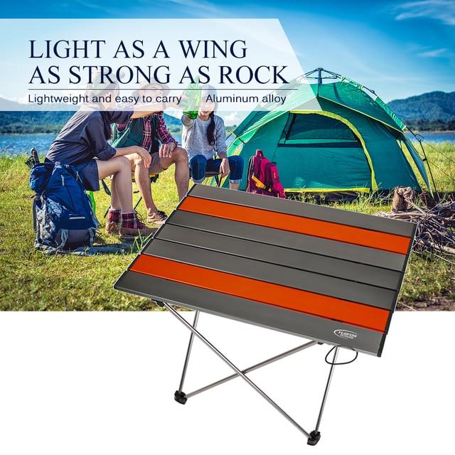 Portable Folding Table Ultralight Aluminium Alloy Outdoor Camping Picnic Table Desk Multi Tool Outdoor Tools