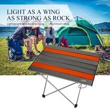 Tragbare Klapptisch Ultraleicht Aluminium Legierung Outdoor Camping Picknick Tisch Schreibtisch Multi Werkzeug Im Freien Werkzeuge