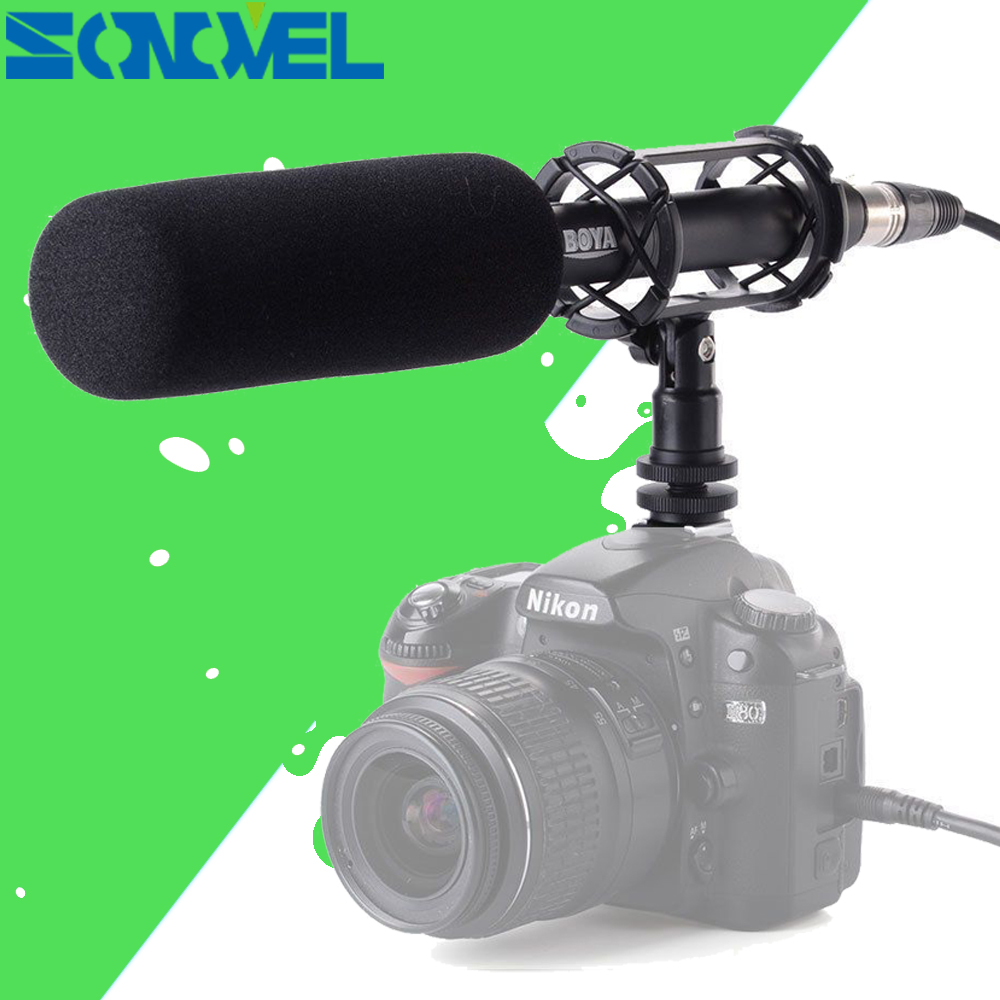 BOYA BY-PVM1000 Professional DV DSLR Condenser Shotgun Microphone Video Interview Reporting for Canon Nikon Video DSLR Cameras