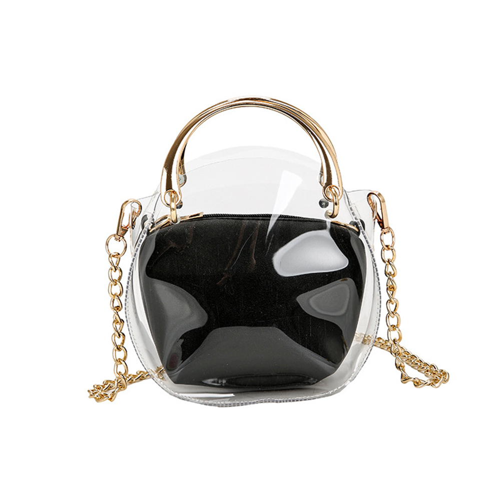 Fashion Women PVC Transparent Clear Shoulder Bag Tote Jelly Beach Handbag Purse