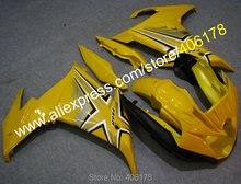 Ventes chaudes, accessoires pour YAMAHA FZ6R FZ 6R fz6r FZ-6R 2009-2013 carénage haute qualité jaune noir moto carrosserie carénage