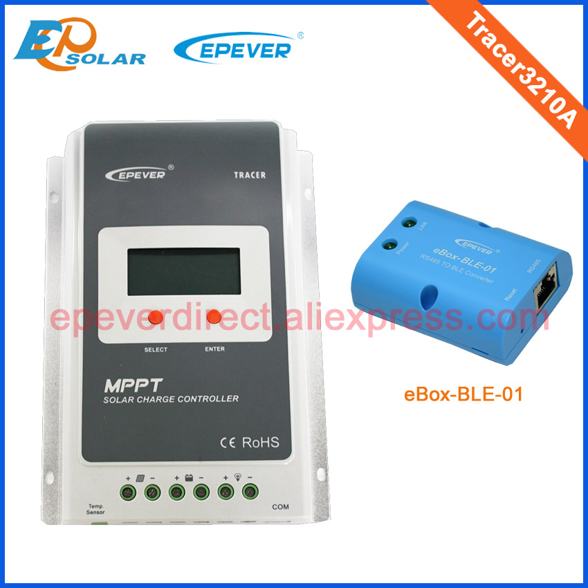 MPPT charger solar panel controller BLE function APP connect use Tracer3210A 30A 30amp 12v 24v auto work