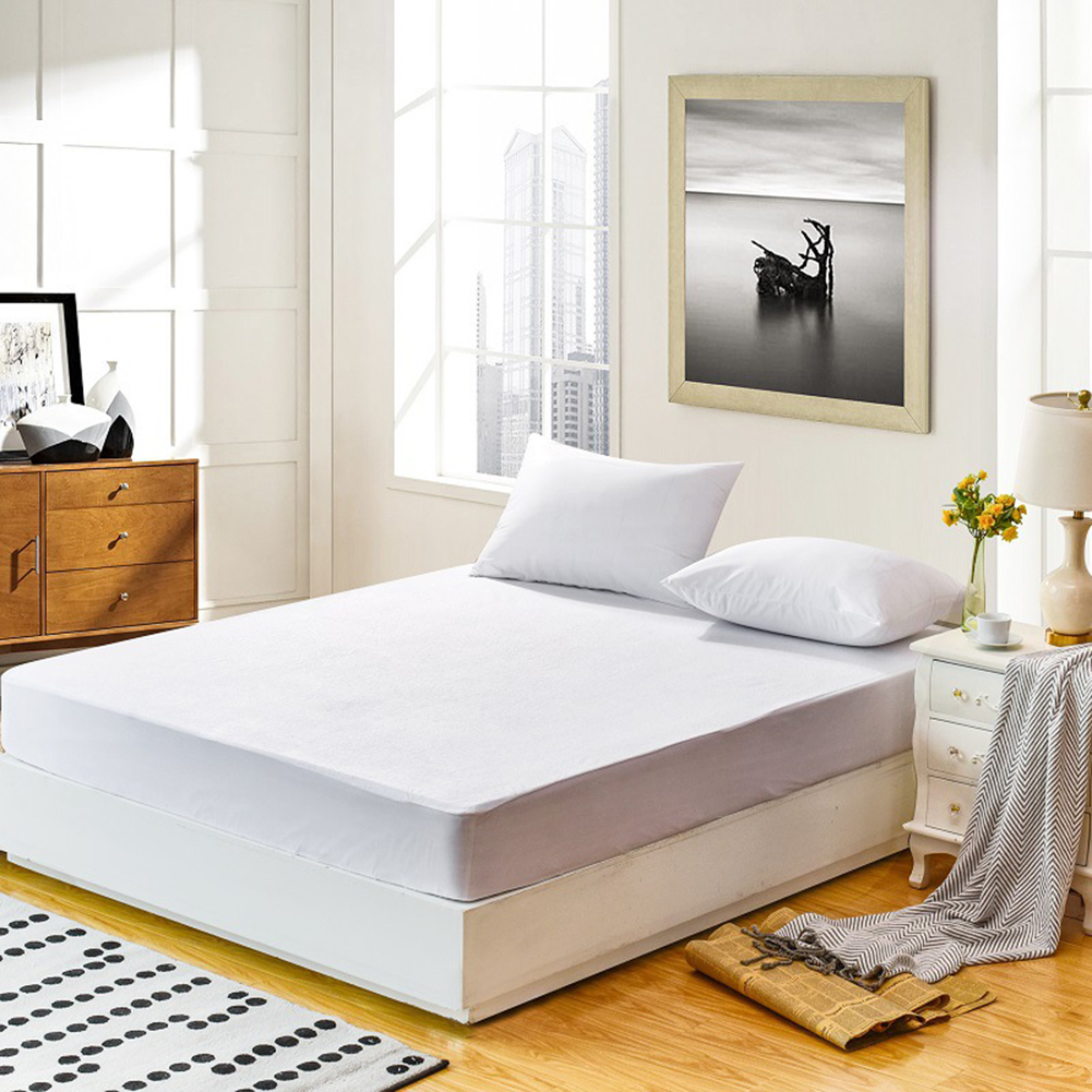 Bed Bugs Mattress Cover Us 8 46 30 Off Waterproof Luxury Mattress Protector Hypoallergenic Mattress Cover Breathable Mattress Pad For Bed Bug Twin Queen King Size In