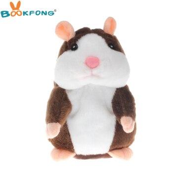 Горячая говорить хомяк милые плюшевые игрушки говорить запись звука хомяка говорящие игрушки для Для детей Детские