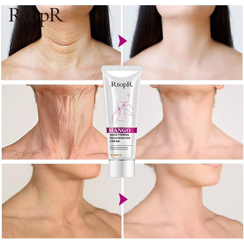 RtopR Neck Firming Rejuvenation Cream Anti-wrinkle Firming Skin Whitening Moisturizing Neck Serum Mild Peeling Beauty Neck Care 1