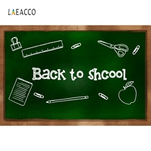 Laeacco Blackboard Chalk Book Green Screen Back To School Classroom Photographic Backdrops Photography Backgrounds Photo Studio