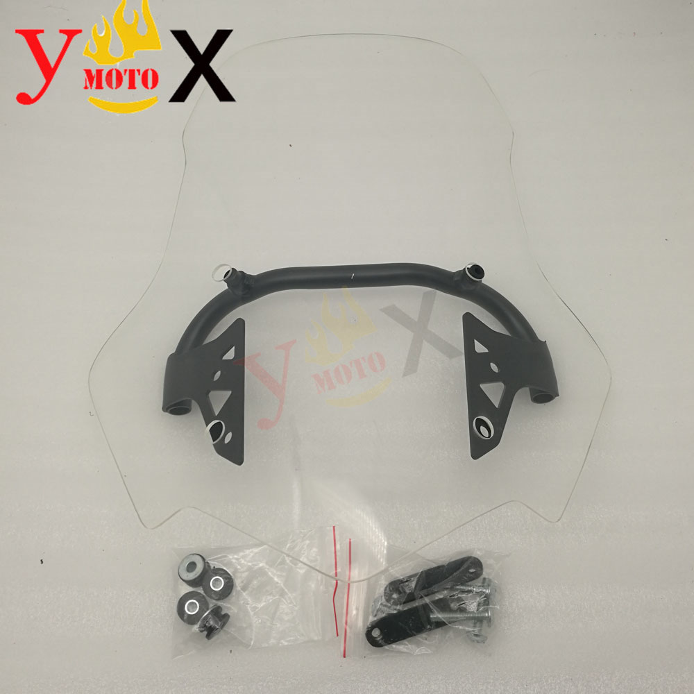 ABS Motorcycle Clear 50CM Windshield Windscreen <font><b>Deflector</b></font> Airflow W/ Bracket Support Mounting For Honda NC700X <font><b>NC750X</b></font> 2012-2015 image