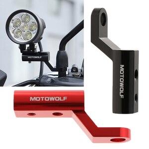 Image 5 - 2 pçs motocicleta espelho retrovisor extensão suporte de montagem para moto carros elétricos atvs 10 1/2mm furos de parafuso