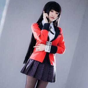 Image 4 - أنيمي Kakegurui تأثيري حلي جابامي Yumeko تأثيري حلي اليابانية عالية زي مدرسي بنات ملابس النساء الدعاوى