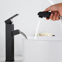 black Kitchen Faucet Bathroom Basin Faucet Single Handle Single Hole Mixer Tap Deck Mounted Hot And Cold Tap Sink Brass Faucet creative design black basin faucet deck mounted single hole hot and cold water sink faucet bath accessories tap mixer