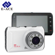 E-ACE Car Dvr Camera Novatek 96223 Chip Full HD 1080P Video Recorder With 9 IR Lamps Night Vision Auto Registratory Dash Cam