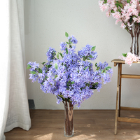 10pcs 3D Large 40 Lilac Artificial Flower for Wedding Home Decor Best Gift for Expressing Secret Love Fake Silk Flower