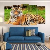 5 Wall Print Tiger Melhor Preço