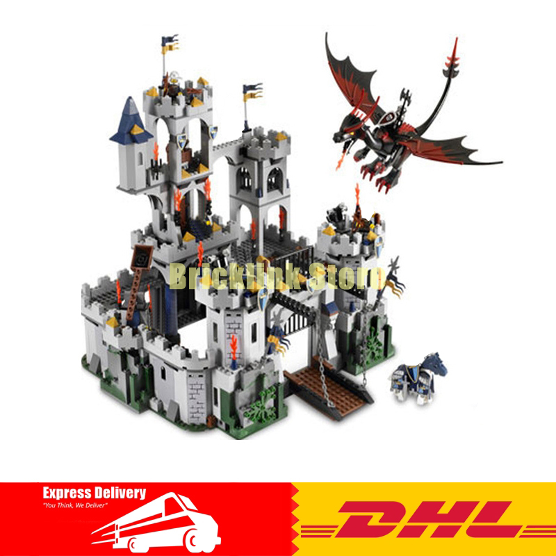 IN Stock Lepin 16017 1023pcs Castle Series The King\'s Castle Siege Building Block Compatible 7094 Brick Toy movie series king castle battle siege set model building block bricks toys compatible legoings city castle 7094