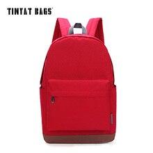 Tinyat mujeres ocasional de la lona mochilas mochila ordenador 14 15 pulgadas laptop mochilas para chicas adolescentes viajes back mochila t101 rojo