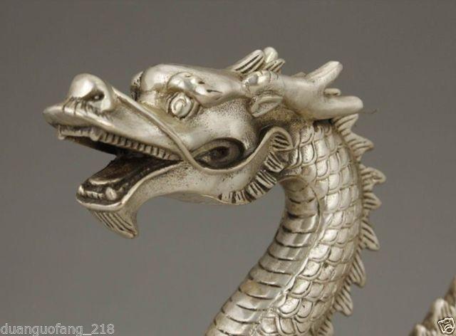 Izraditi kineski stari kolekcionarni tibetanski srebrni bakreni - Kućni dekor - Foto 3