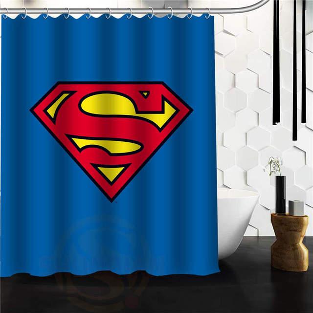 Whitexue Comic Hero Superman Waterproof Custom Shower Curtain 48x72 60x72 Inch Surprised Gift