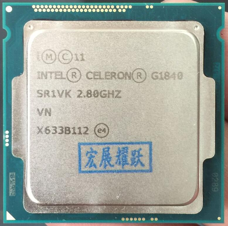 Prix pour Intel Celeron Processeur G1840 (2 M Cache, 2.80 GHz) LGA1150 Dual-Core 100% fonctionne correctement De Bureau Processeur