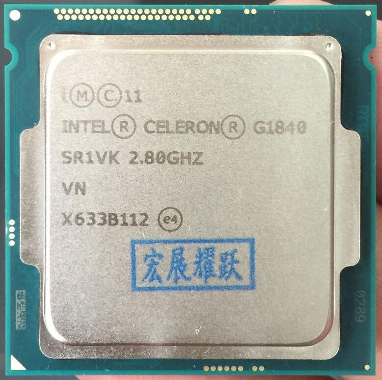 Intel Celeron Processeur G1840 (2 M Cache, 2.80 GHz) LGA1150 Dual-Core 100% fonctionne correctement De Bureau processeur