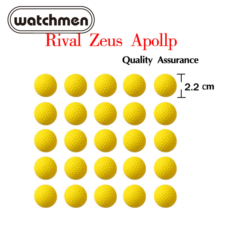 100pcs Bola Nerf Balas para Rivalizar Com Zeus Apollo Apollo Zeus Rival de Dardos para Nerf Gun Arma de Brinquedo Bola