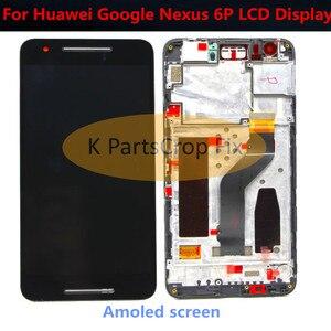 """Image 2 - מקורי שחור עבור 5.7 """"Huawei Google Nexus 6P LCD תצוגת מסך מגע Digitizer עם מסגרת עצרת החלפת נקסוס 6P LCD"""