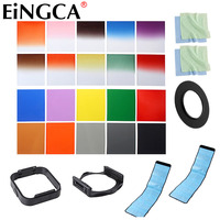 25In1 Gradient Full Color Filter Set Filter Bag Case Lens Adapter For Nikon Canon Sony Pentax Fujifilm Camera Lens Accessories