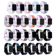 NEW Painted Strap For Apple Watch band 38mm 42mm iWatch 4 band 44mm 40mm Sport Silicone belt Bracelet correa Apple watch 4 3 2 1 цена и фото