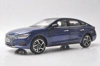 1:18 литья под давлением модель для hyundai La Festa 2018 синий седан сплава игрушечный автомобиль миниатюрный коллекция подарки Санта Фе