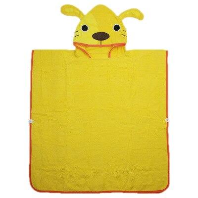 3 вида конструкций, Желтый Детский банный халат с капюшоном и изображением монстра и слона, щенка - Цвет: puppy