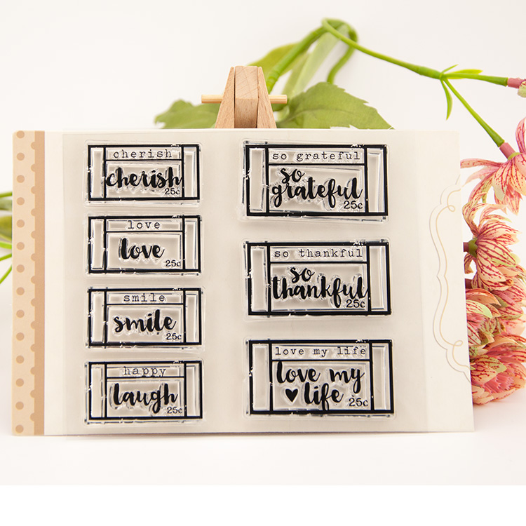 LETTER WORD Frame Clear Stamp Scrapbook DIY photo cards rubber stamp seal stamp happy transparent silicone transparent stamp segal business writing using word processing ibm wordstar edition pr only
