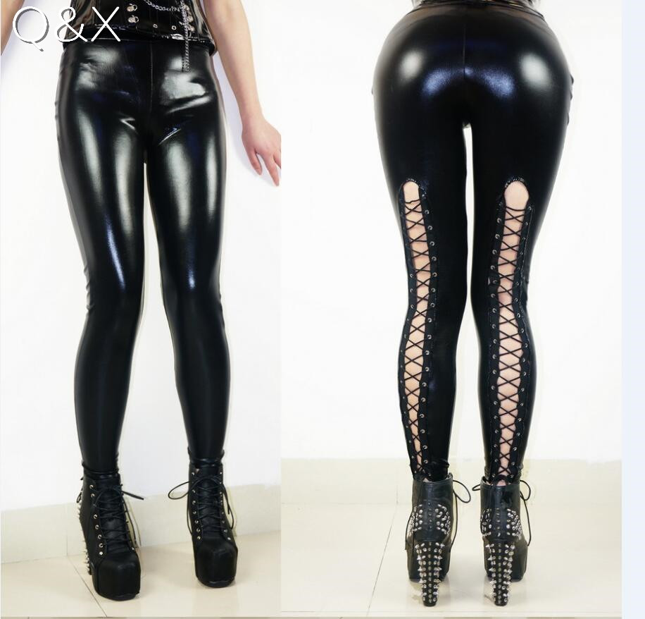 Xx46 2017 Fashion New Women Faux Leather Pants Pu Legging