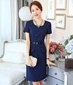 Más el tamaño 3XL de moda elegante vestido OL estilos profesional Business Women vestidos Ladies Work Wear Casual Tops verano vestido