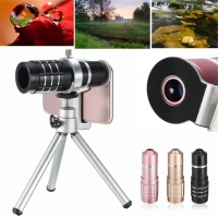 Universal Clips HD 12x Optical Zoom Telephoto Lens Telescope Mobile Tripod For IPhone 4 5 6