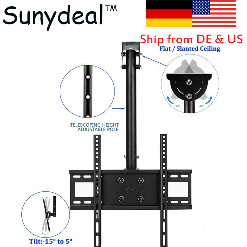 TV Bracket TV Wall Mount Swivel Tilt Rotate TV Ceiling Roof Bracket for LG Samsung 30-70