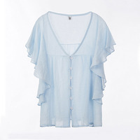 BOBOKATEER Plus Size Chiffon Blouse Summer Top White Womens Tops And Blouses Shirts Blusas Mujer De