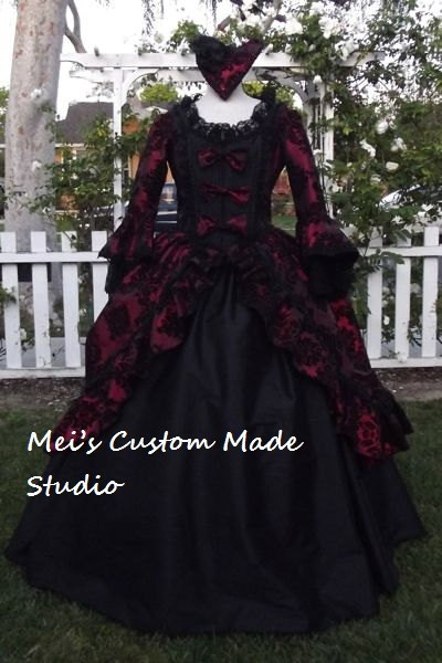 Custom Made 18th century Taffeta Victorian Bustle Wedding Ball Gown/Bridal Dress Tea Party Dress/Masquerade Costume