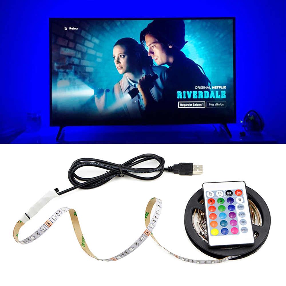 Luces LED TV/PC Decor Lamp Backlights LED Light Usb-kabel Aangedreven DC 5V RGB Wit Warm Wit keuken woonkamer Verlichting