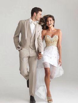 2017 Latest Coat Pant Designs Ivory Wedding Suits For Men Suit Slim Fit Skinny 3 Piece Tuxedo Groom Custom Prom Blazer Masculino
