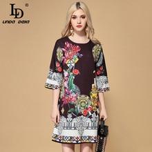 LINDA femmes robe Floral