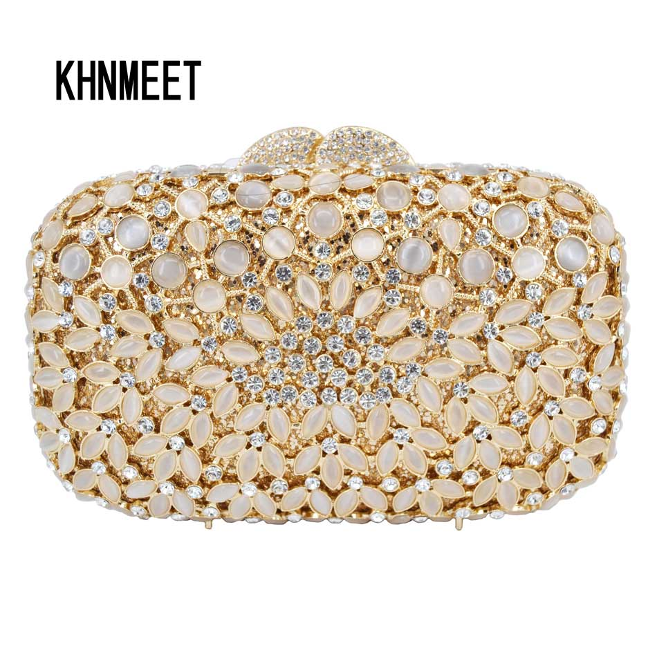 2017 New Clutch Party Evening Bag Crystal Diamond Women Purse Luxury Wedding bride Prom soiree Purse Bag female pochette SC566 yu19 1 crystal evening bag clutch peacock diamond pochette soiree women evening handbag wedding party purse clutch bag