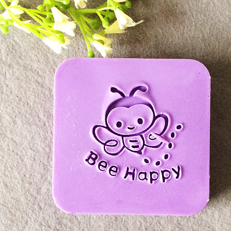 2016 free shipping natural handmade acrylic soap seal stamp mold chapter mini diy bee patterns organic glass 4X4cm 0021 savannah bee company natural and organic peach blossom shimmer lip tint 0 09 ounce