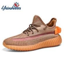 YEINSHAARS Man Designer Casual Shoes Men Sneakers Luminous Reflective Night Running Safe Lover Unisex