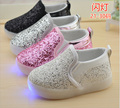2017 child sport led shoe sneakers for baby girl boy toddler 1-5Y kids  spring/autumn lighted glowing shoes with light kids shoe