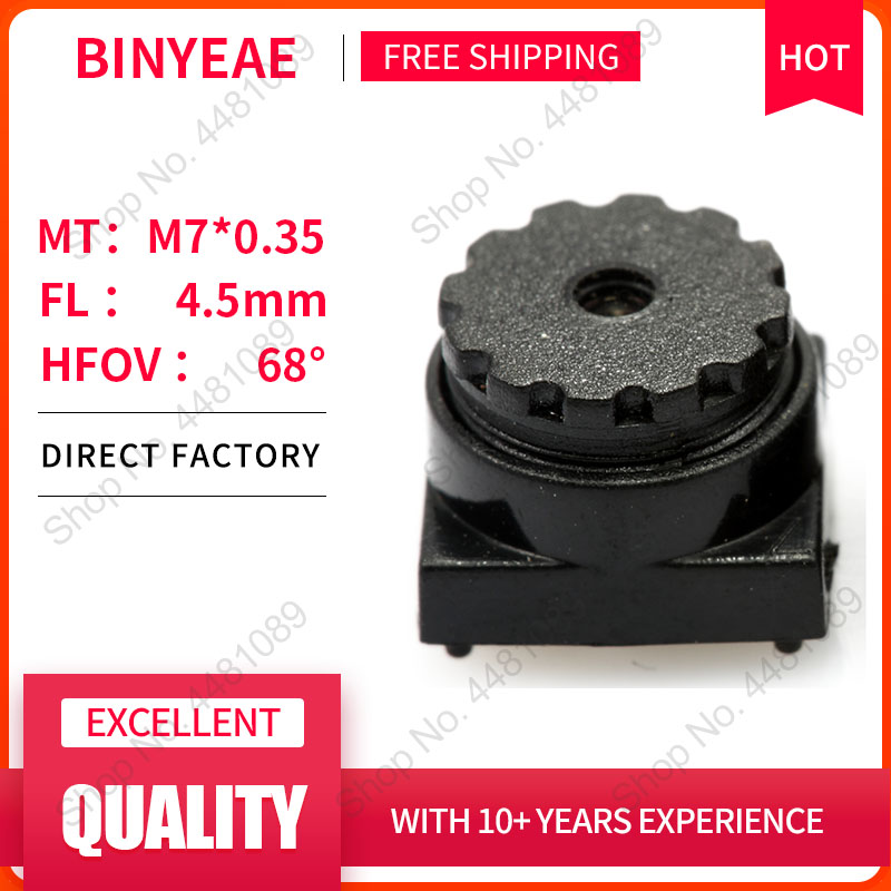 BINYEAE 5Megapixel HD 4.5mm Lens Board Lens For CCTV Security Camera IP Camera 4.5MM M7*0.35 Mount Long Viewing Distance