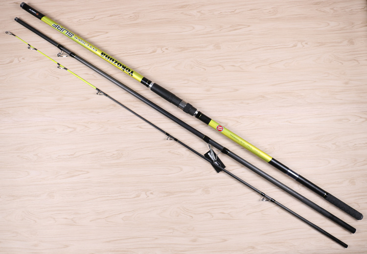4.2M 3 sections SURF ROD Carbon fishing rod Distance Throwing Rod Intervene throw Anchor rod SIC rings solid tip