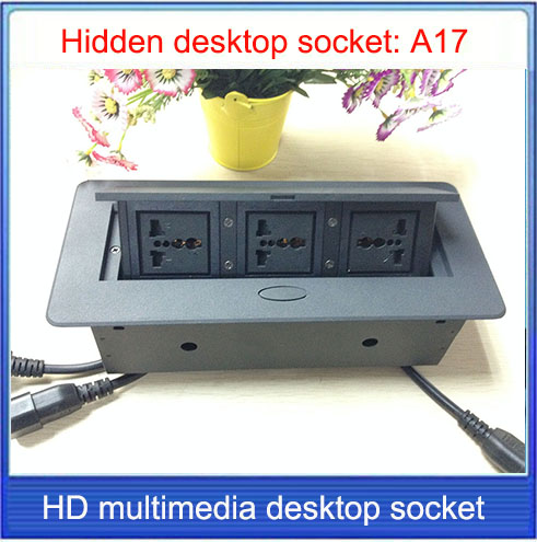 Office conference multimedia socket /hidden /HDMI USB cable  Information outlet box / Universal power desktop socket / A17 built in desk power and data outlet tabletop hdmi usb power cable interconnect box 183x85mm ce compliant