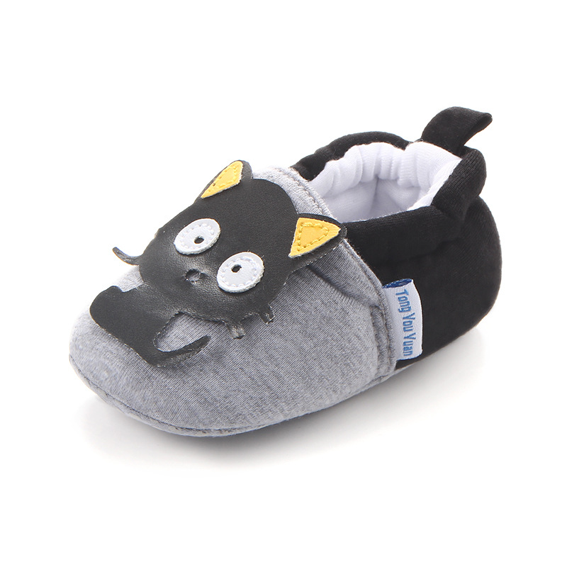 Bavoirsj Fashion Soft Warm Cotton Cloth Baby Shoes Lovely Cat Animal Safe Baby Crib Shoes for Kids Newborns B1814